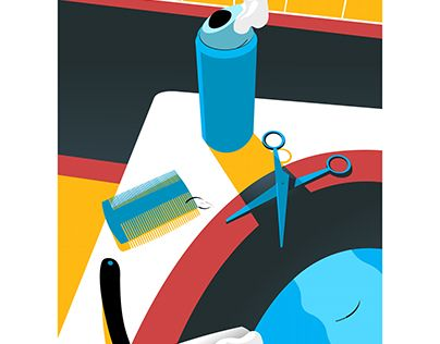 """Check out new work on my @Behance portfolio: """"Barber"""" http://be.net/gallery/52081635/Barber"""