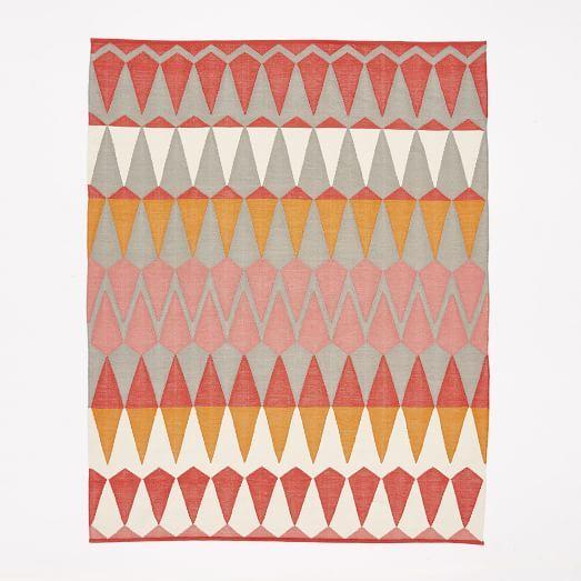 Margo Selby Zigzag Stripe Kilim Rug  from West Elm. (8x10 rug originally $679; on sale for $543)