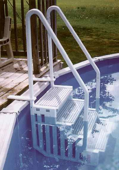 17 best ideas about above ground pool ladders on pinterest for Above ground pool ladder ideas