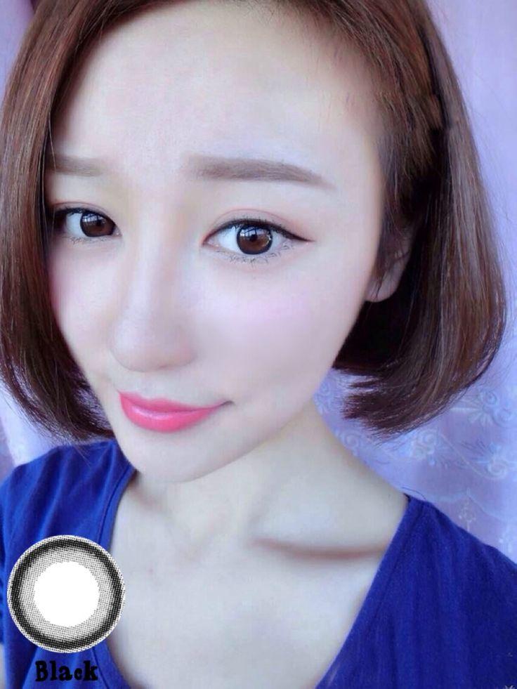 OL Circle Contact Lenses Big Eyes Makeup Circle Ring Black