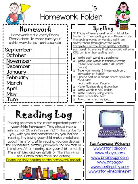 Editable Homework folders and newsletter- An easy way to keep organized and communicate with Kindergarten, first, or 2nd grade parents!