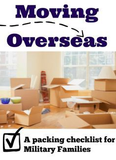 Moving OCONUS what to pack in Unaccompanied Baggage