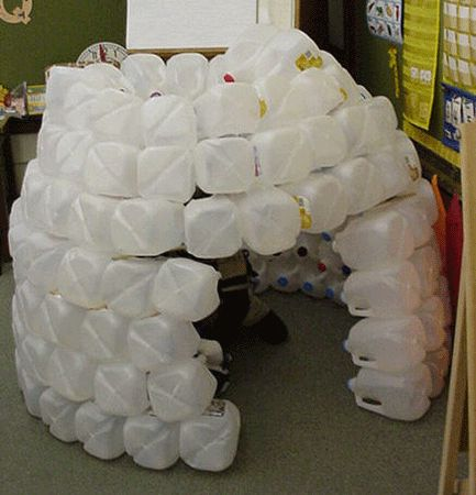 How to make an igloo at little giraffes teaching ideas for How to build an igloo out of milk jugs