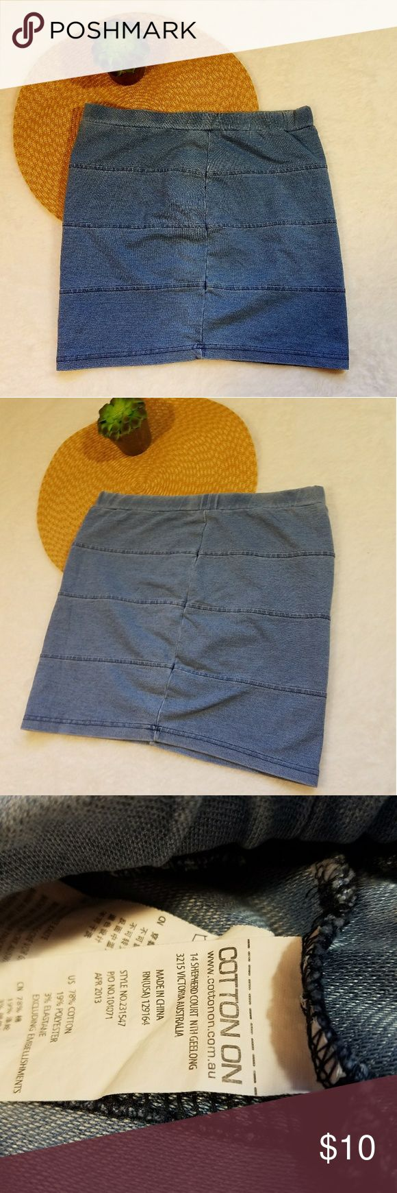 Cotton On Short Denim Jean Mini Skirt Size Small ~Cotton On Short Denim Jean Mini Skirt  ~Size Small  ~Measurements: *Measurements are Approximate* ~Gently Used | In Good Condition | No Rips Or Stains  ~Feel free to ask Questions and Make an Offer  ~Stock#: Cotton On Skirts Mini