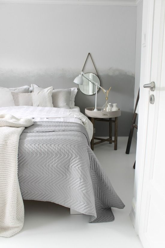 Soft grey bedroom walls