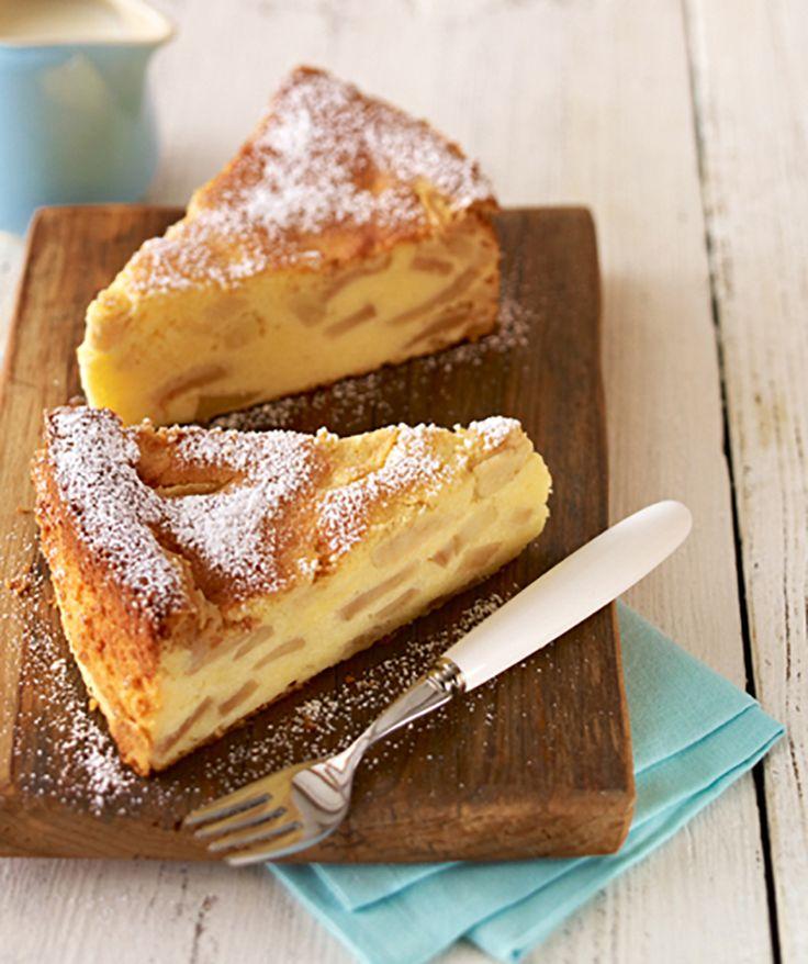 Ein saftiger Apfelkuchen mit Quark zum Geburtstag oder anderen Festen.