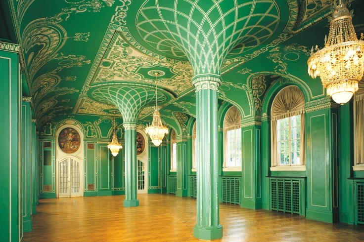 grüne Saal - green hall in #Bad Kissingen, #Bavaria, Germany - stunning!