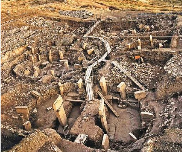 The oldest temple of the world. Gobeklitepe is a pre-historic site dating from roughly 12000 years ago, near Sanliurfa, Turkey.
