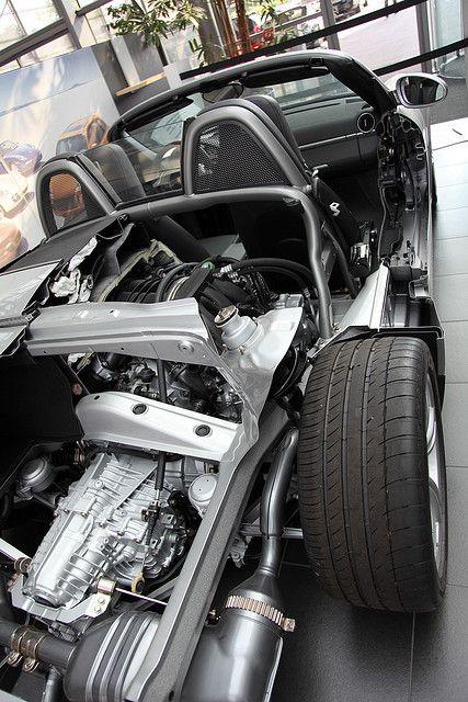 Porsche Boxster cut away at Porsche Museum