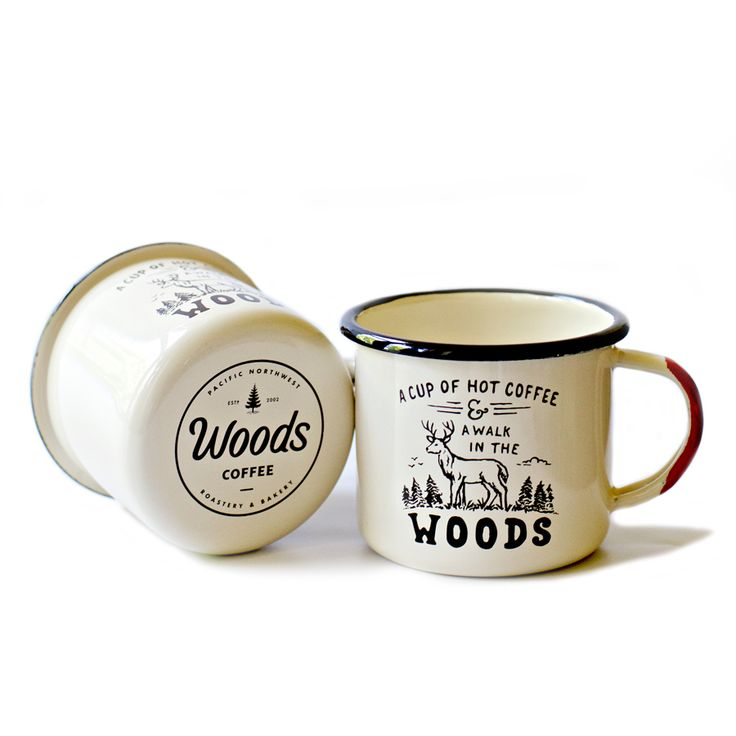 The only thing that makes a cup of hot coffee better is a walk in the woods. This hand-dipped enamel mug is perfect for adventuring and camping!