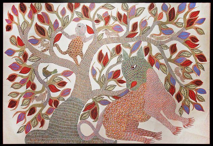 http://mahashivarathri.org/hands-of-grace/craft-workshops/ Gond Painting