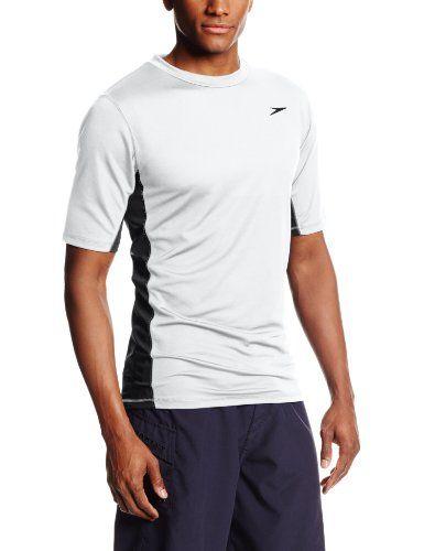 Introducing Speedo Mens UPF 50 Longview Short Sleeve Rashguard Swim Tee White XLarge. Get Your Ladies Products Here and follow us for more updates!
