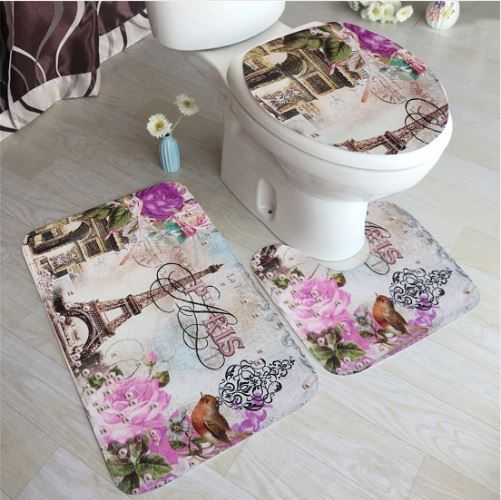 DESCRIPTION 3pcs Ocean Underwater World Anti Slip Mat Toilet Pattern Carpet Bathroom Mat Set   Features:  Flannel fabric, very soft feeling and comfortable.  Easy absorb water and dust good slip resistance.  Using PVC anti-skid bottom material, anti-skid, wear-resistant, and not hurt the floor.  Easy to clean, can be directly washed by washing machine or hands, not shed and fade.   Specifications:  Color: A, B, C  Material: Flannel+Polyester fiber  Square Size: approx. 75x44cm/29.52x17.32in…