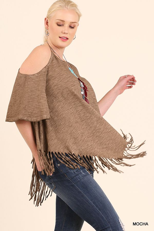 Umgee WA2801 Keyhole Shoulders With Fringe Tunic Available At Trees N Trends.  Outdoor FurnitureFloral ... Part 71