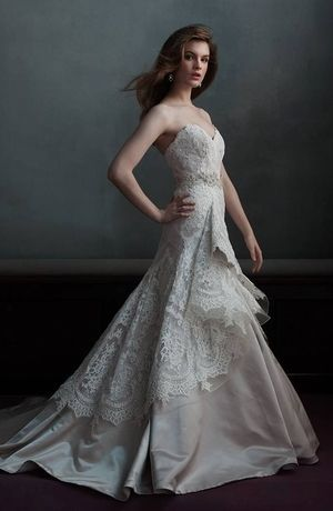 So this might be more mu test but I love the old fashioned look Marisa - Sweetheart A-Line Gown in Lace