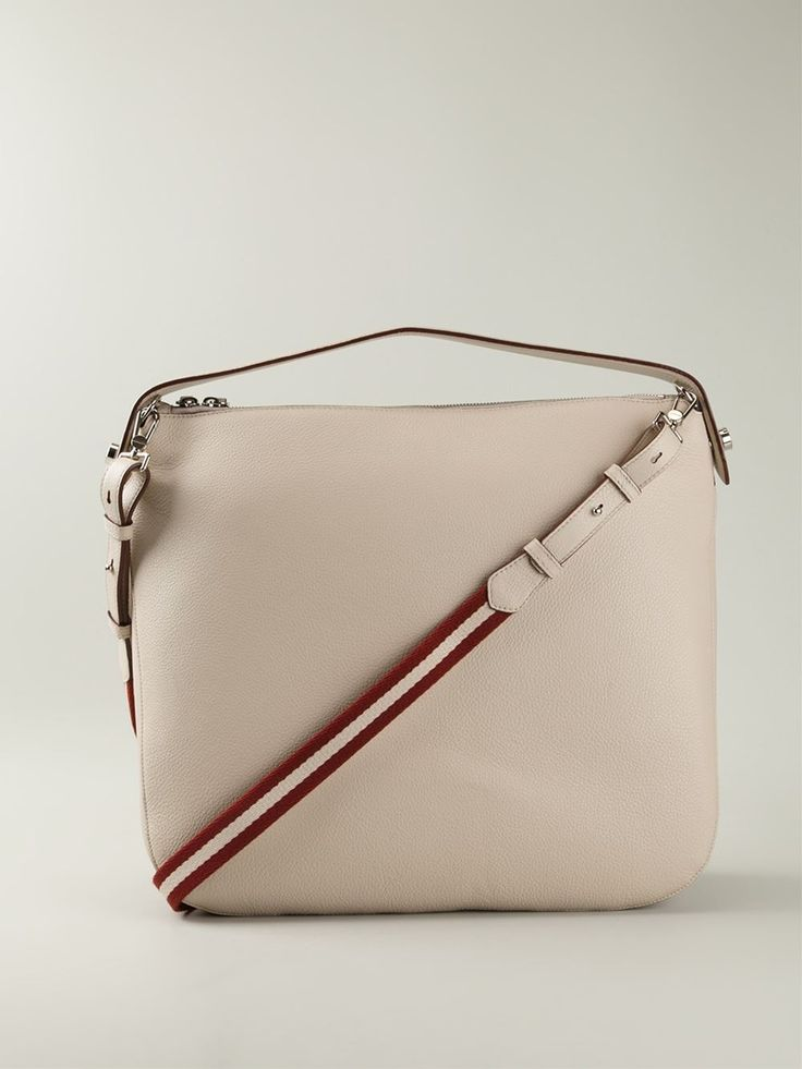 Nude calf leather medium 'Fiona' shoulder bag from Bally