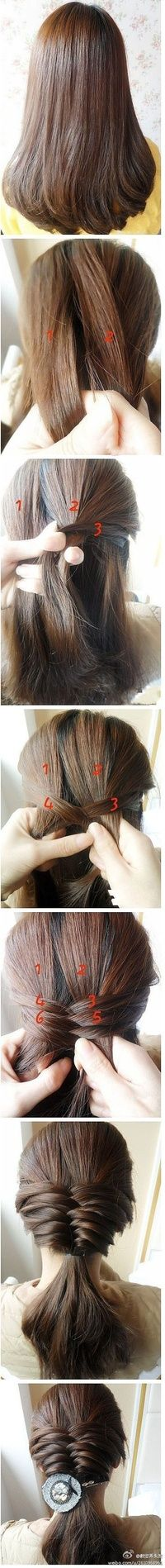 Pretty fishtail french braid ponytail how to tutorial