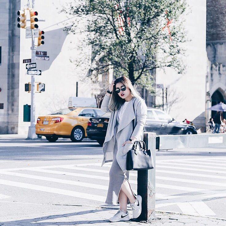 All grey in New York. New post on the blog www.kimleow.com or link in profile. #kimleowwears