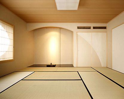 大谷の家//床の間 円弧