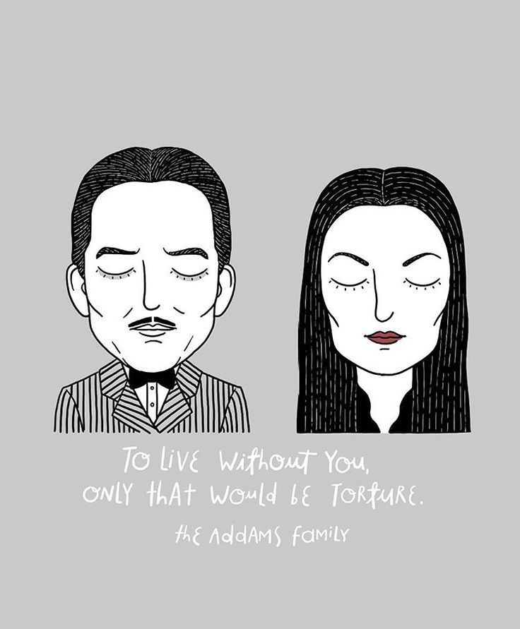 Gomez and Morticia from The Addams Family. If you think you're romantic, think again and learn from Gomez, cara mia! #sadmoviecouples #theaddamsfamily #morticia