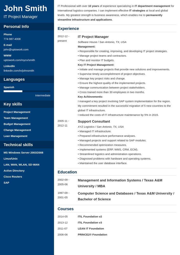 resume builder for web developer