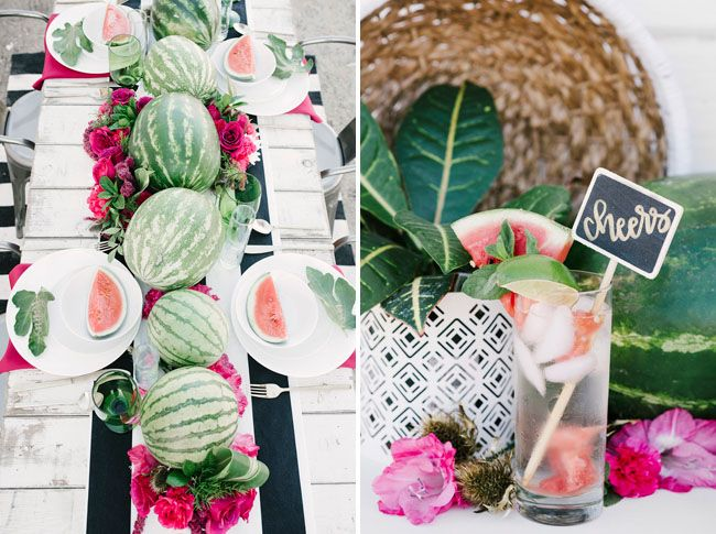 Tropical Watermelon Inspiration - photos by ellie kolleen