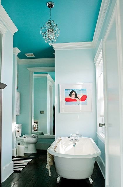 Turquoise bathroom guest