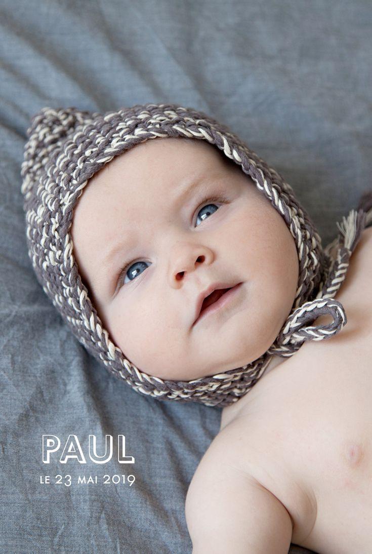 Ce faire-part de naissance The photo! (portrait) est synonyme d'élégance autant que de simplicité. #babyborn #card #birthannouncement #pics #typographic