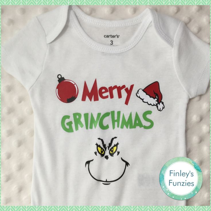 Merry Grinchmas Christmas baby Onesie, toddler, youth tshirt by FinleysFunzies on Etsy