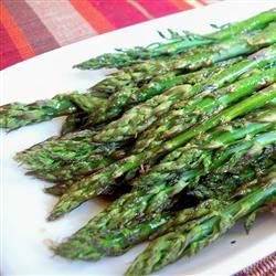 Easter Recipe: Baked Asparagus with Balsamic Butter Sauce - a hit every time.