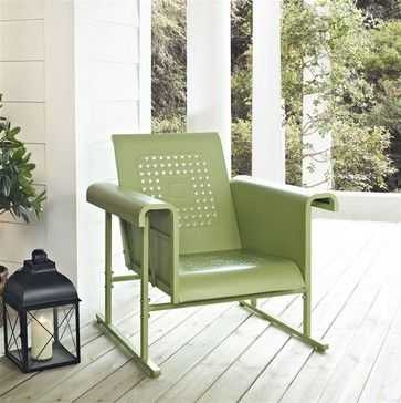 Veranda Single Glider Chair in Oasis Green contemporary-outdoor-stools-and-benches