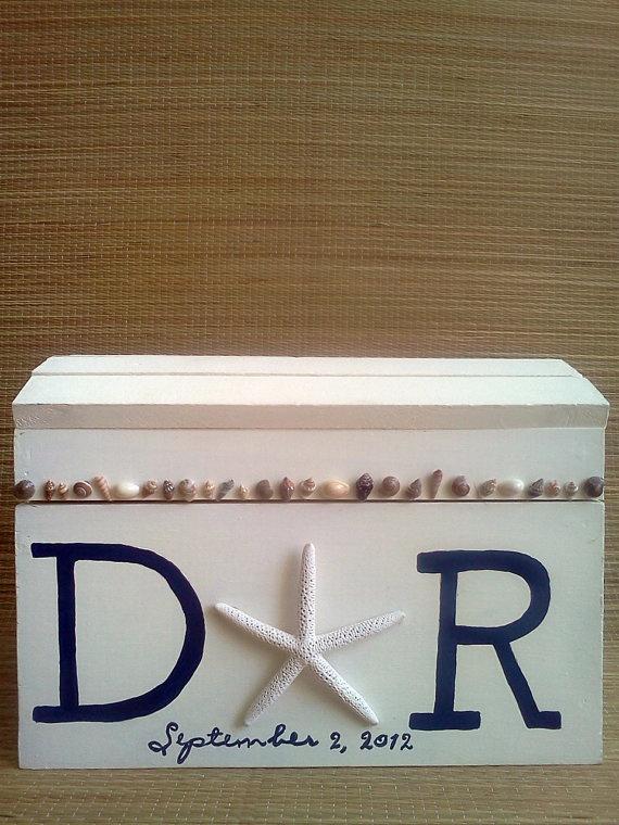 card box or memory box beach or nautical wedding on etsy