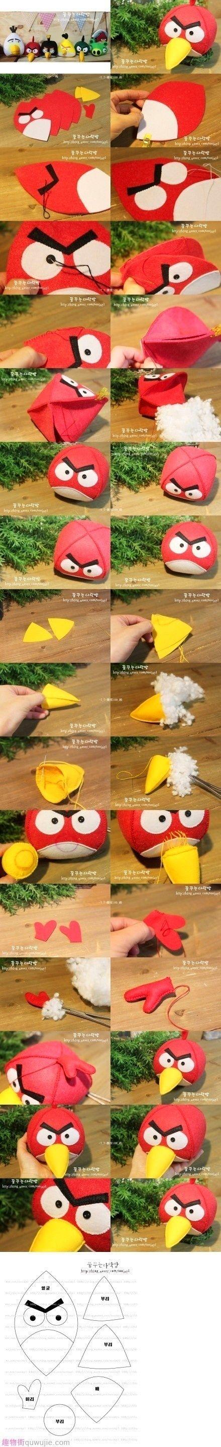 DIY Angry Bird Plush Toys | iCreativeIdeas.com Like Us on Facebook ==> https://www.facebook.com/icreativeideas