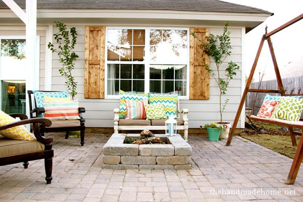 backyard bliss: installing patio pavers and a fire pit | the handmade home