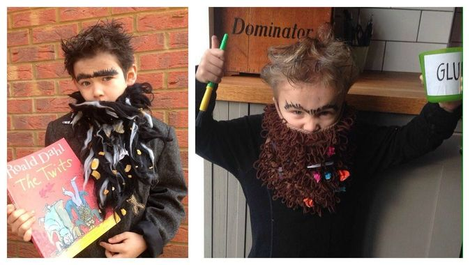 Dress up as Mr Twit from The Twits by Roald Dahl