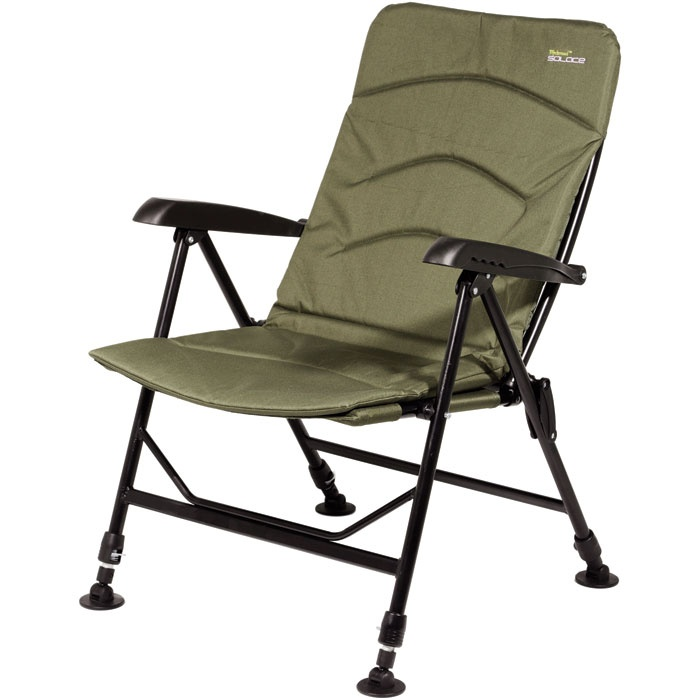 Solace Reclining Chair adjustable legs with swivel mud feet