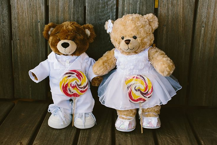 Cute teddy bears for flower girls and page boy to carry down the aisle.  Image: Cavanagh Photography http://cavanaghphotography.com.au