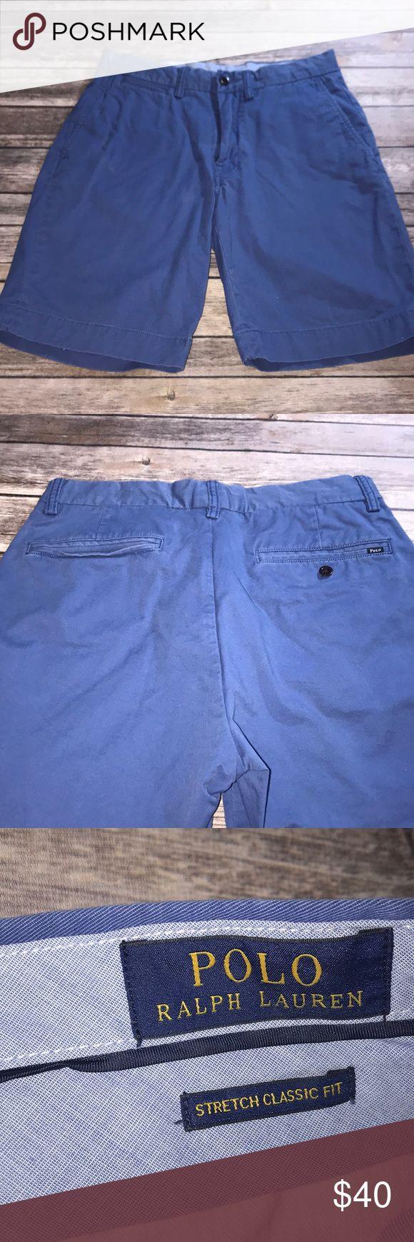 Men's Cobalt Blue Polo Ralph Lauren Shorts Men's Polo Ralph Lauren Cobalt Blue shorts. Worn a handful of times. size 30. Stretch classic fit.  98% cotton  2% elastic Polo by Ralph Lauren Shorts Flat Front