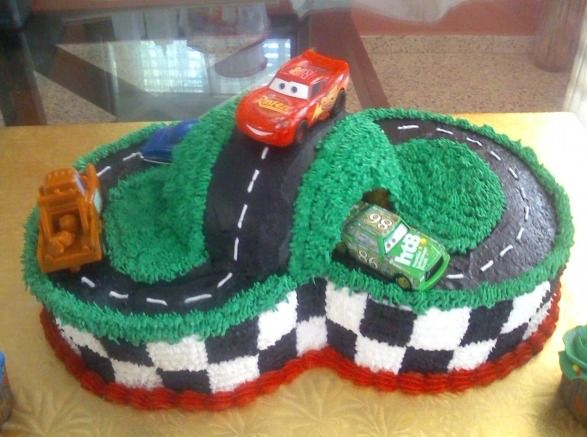 Disney Cars Cake - For all your cake decorating supplies, please visit craftcompany.co.uk
