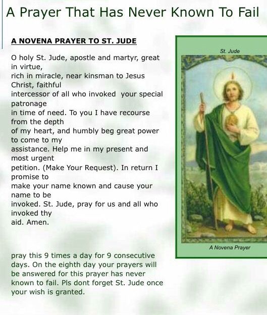 A prayer that has NEVER been known to fail | Novena Prayer to St. Jude