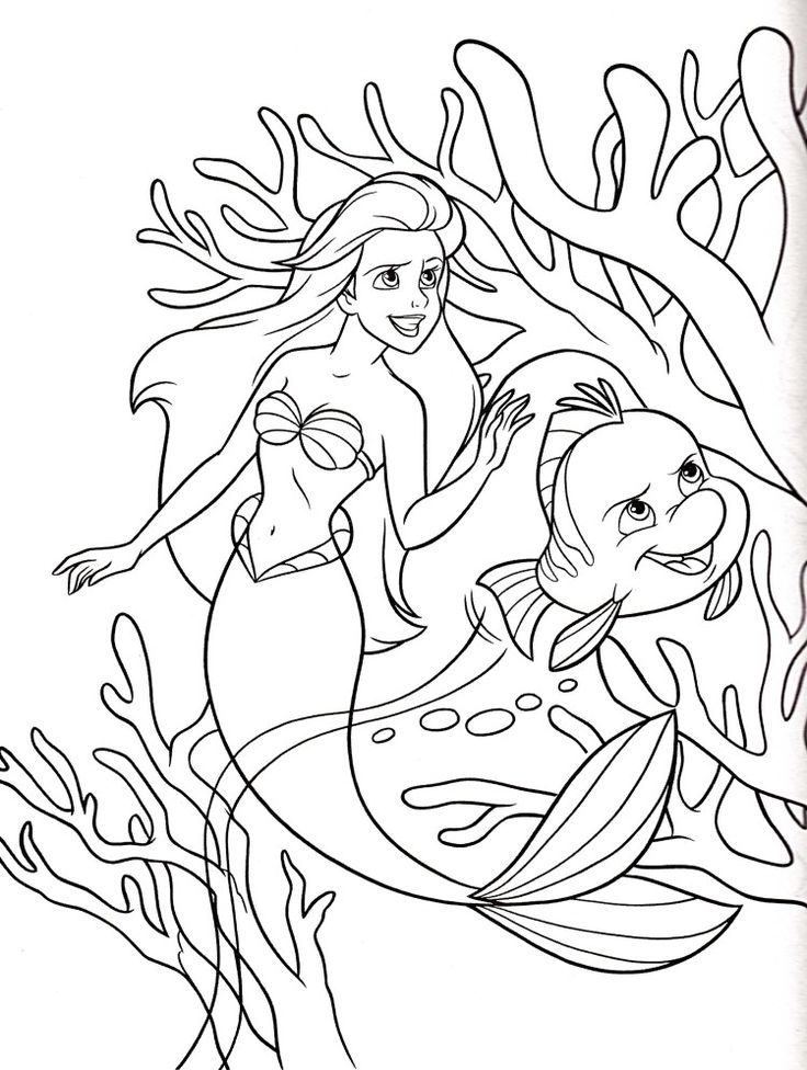 Disney Colouring Pages Ariel 662 Best Printable Coloring Book Vintage Kid