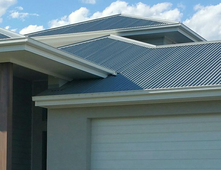 Colorbond -Windspray Roof and Surfmist Gutter and Fascia