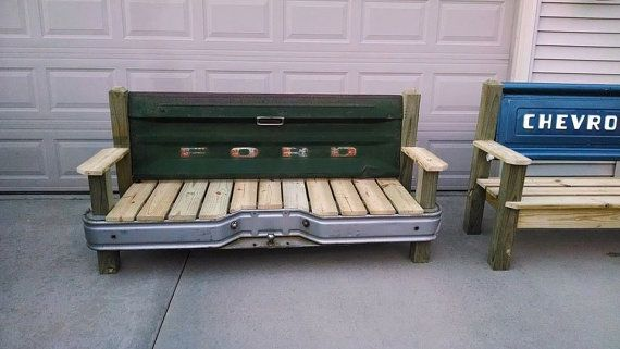 Ford Tailgate bench with bumper by TailgateGuy on Etsy, $525.00