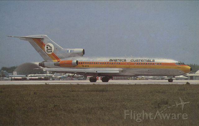 B727-200  SCANNED FROM POSTCARD<br />AVIATECA GUATEMALA