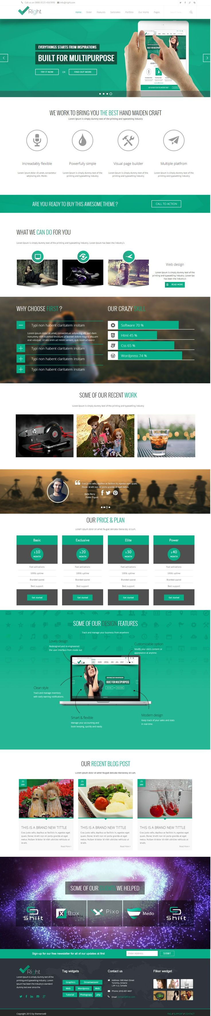 51 best best html website templates images on pinterest website