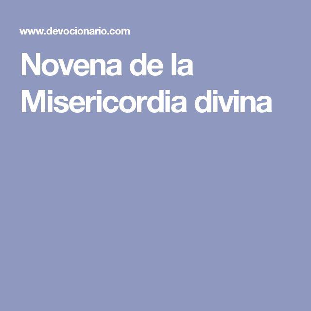 Novena de la Misericordia divina