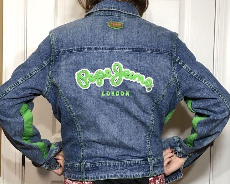 Pepe Jeans UK Classic Product womens jean jacket women XL trucker London  | eBay