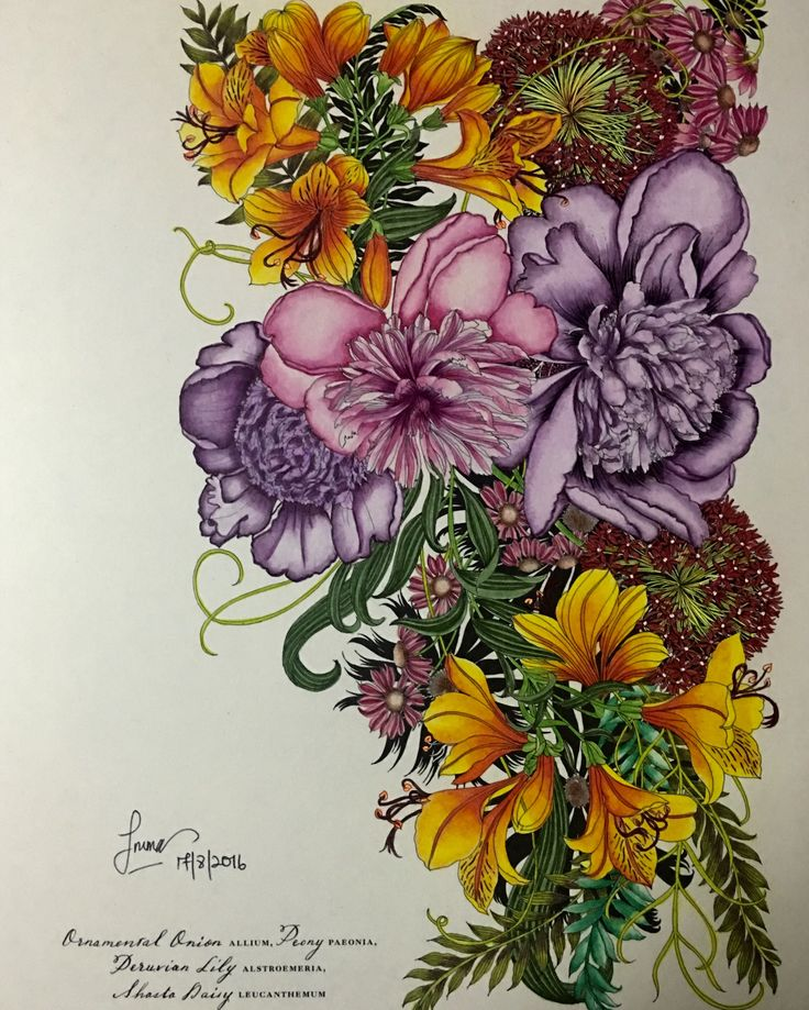 Colour along with Alia Isya Mazlan... Medium. : Prismacolor Pencils and signo…
