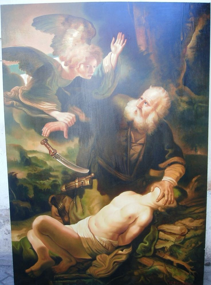 For sale   Abraham & Isaac – Oil on canvas – 140 x 200 cm