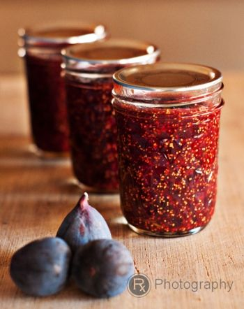 Black Mission Fig Preserves with Rosemary and  Port... sounds like it would be fantastic with brie for a holiday party.